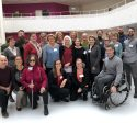 gruppbild från svensk tillgänglighets besök i Handicapens hus