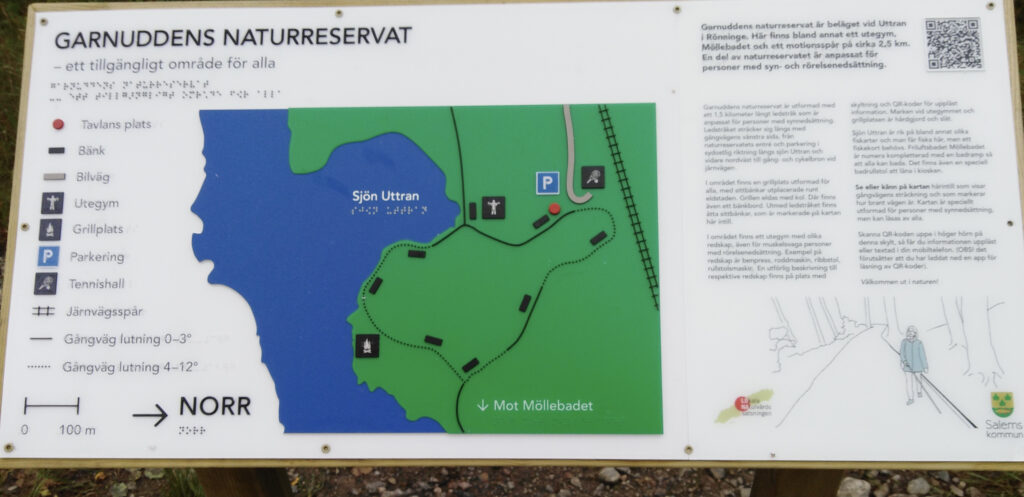 taktil karta över Garnuddens naturreservat